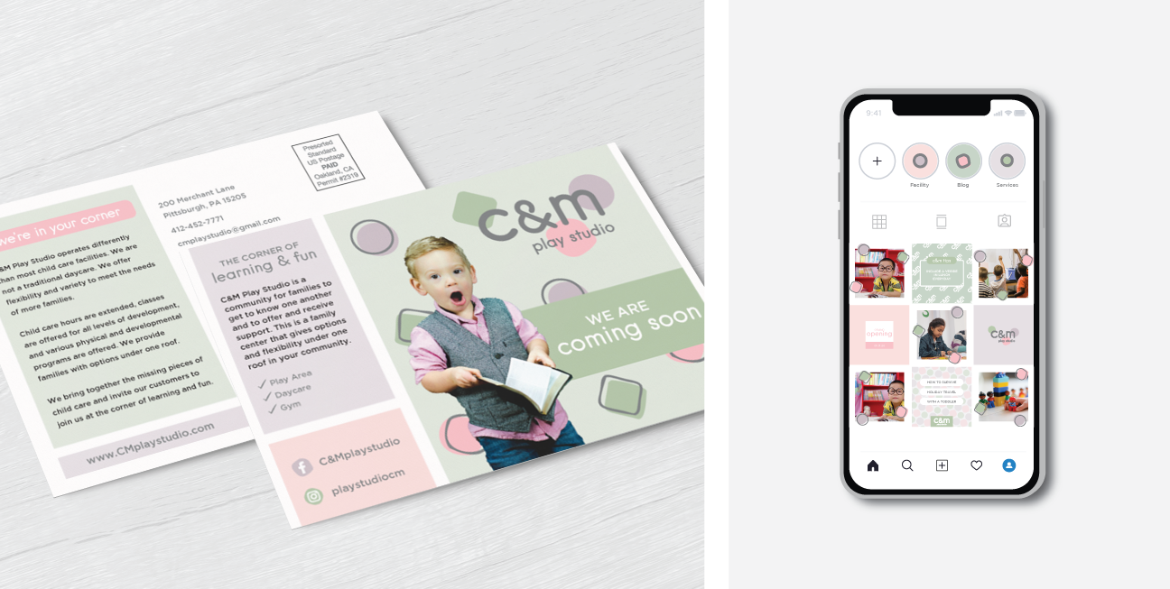 custom brand design cm postcard