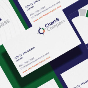 custom brand design chart business card