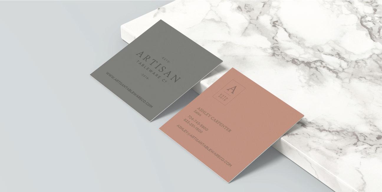 custom brand design artisan business cards