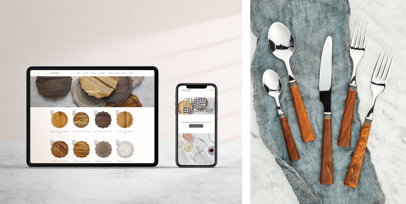 custom brand design artisan website