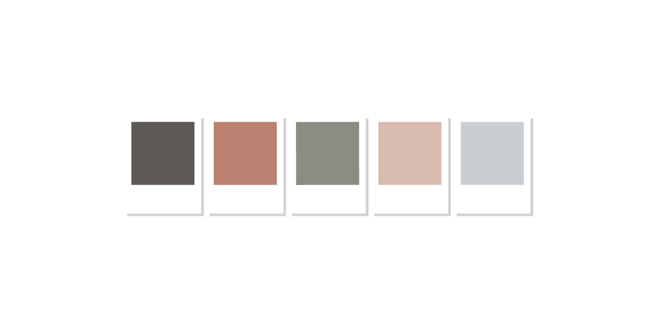 custom brand design artisan color pallet