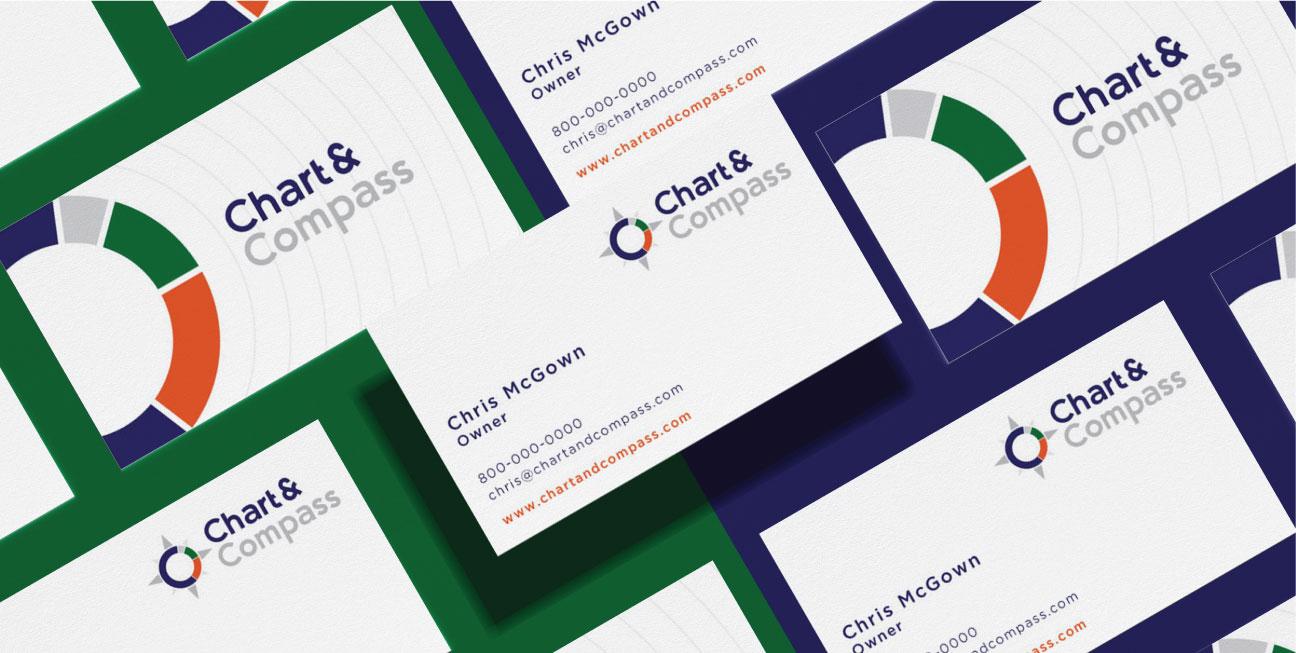 custom brand design chart business card 2