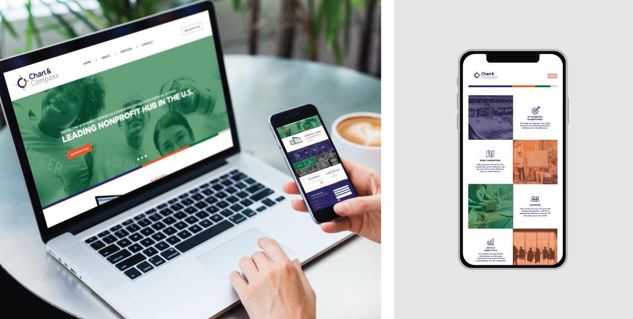 custom brand design chart website