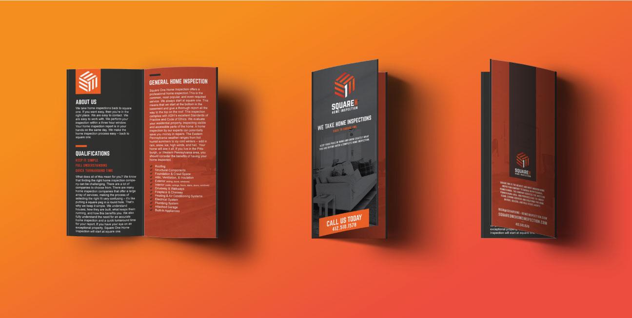 custom brand design square one brochure