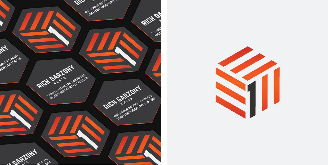 custom brand design square one business cards