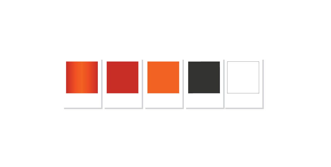 custom brand design square one color pallet