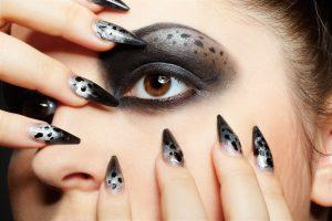 Black leopard print eyeshadow