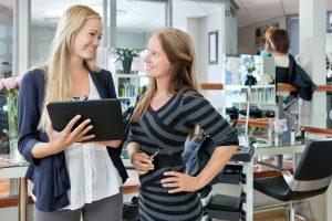 Female Customer With Digital Tablet