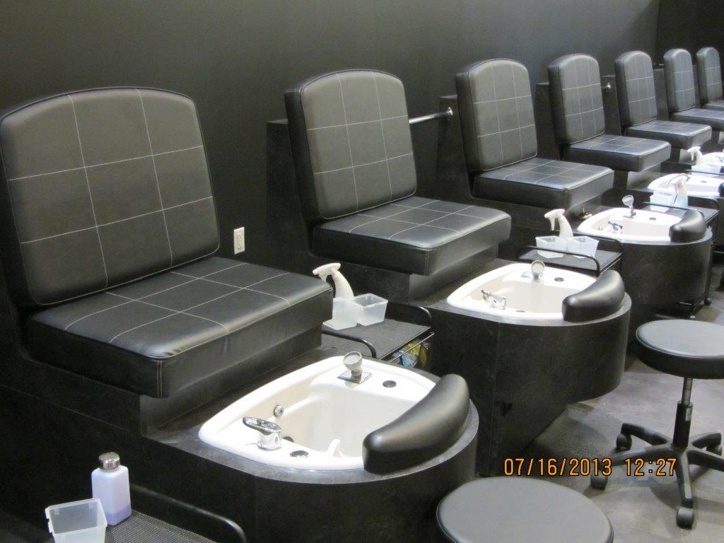 Pedicure stations at Montana Academy of Salons