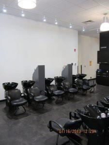 Hair washing station at Montana Academy of Salons