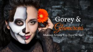 Gorey & Glamourous halloween makeup