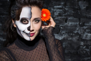 Scary Glam makeup for halloween