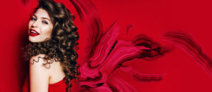 Montana Academy header Bright Red with woman in red lipstick