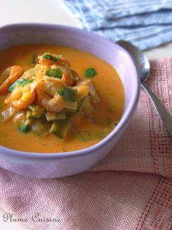 soupe-lait-de-coco-épicée