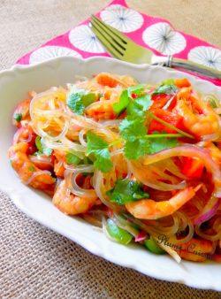 Salade-thaï-aux crevettes