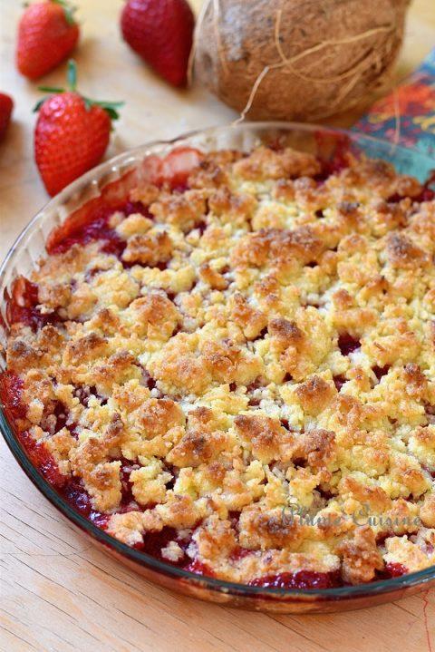 Crumble-aux-fraises-et-coco-recette