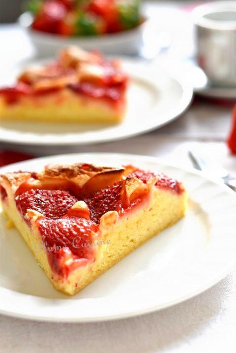 Gâteau-aux-fraises-facile