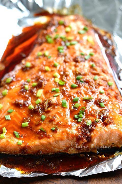 Saumon-miel-gingembre-au-four