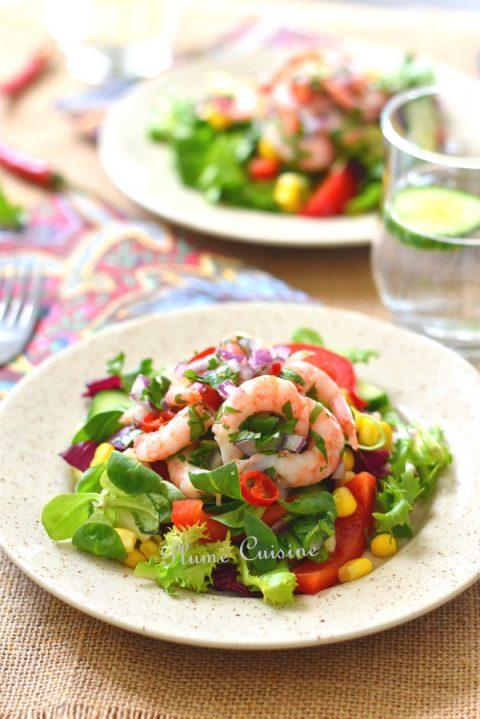 salade-crevettes-épicées
