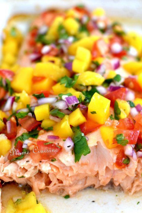 Saumon-salsa-mangue-recette