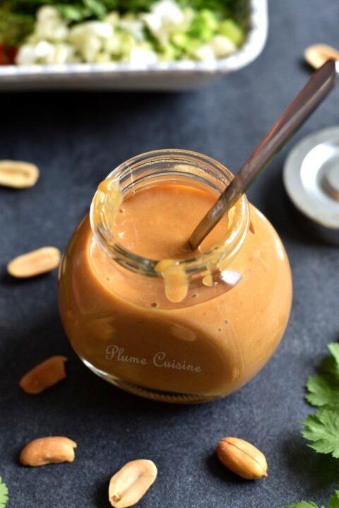 Vinaigrette-asiatique-beurre-cacahuètes