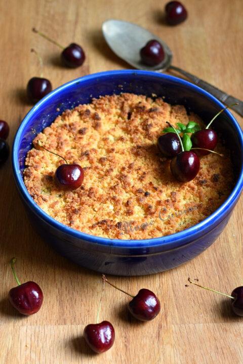 Crumble-aux-cerises-recette