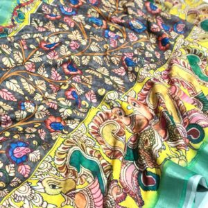Linen_Sarees_suppliers_Linen_Kalamkari_Beauty_deepanandan_saress_6