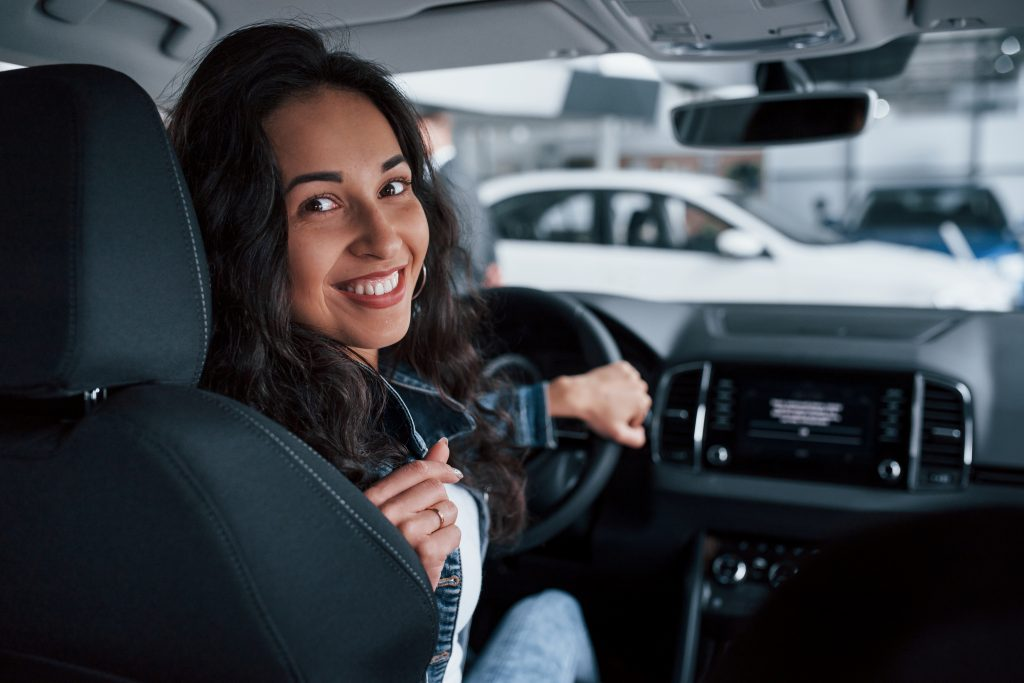 girl driving car with work licence nsw