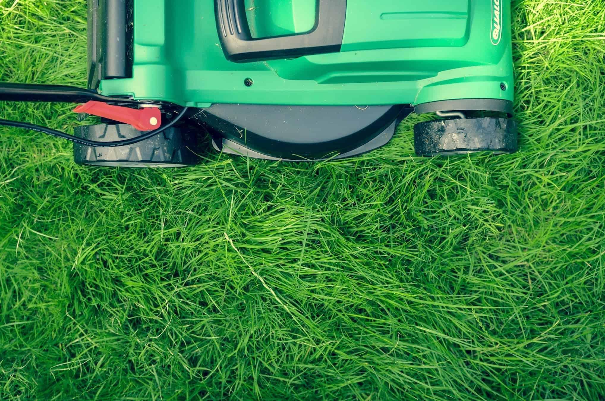Green Lawn Mower Mowing Green Grass
