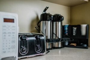 small appliances on a kitchen counter