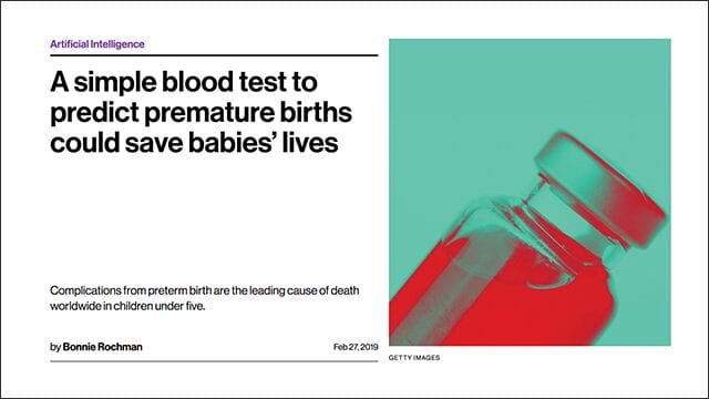 A simple blood test to predict premature births could save babies' lives