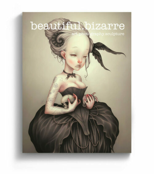 LostFish digital painting on the cover of Beautiful Bizarre art magazine