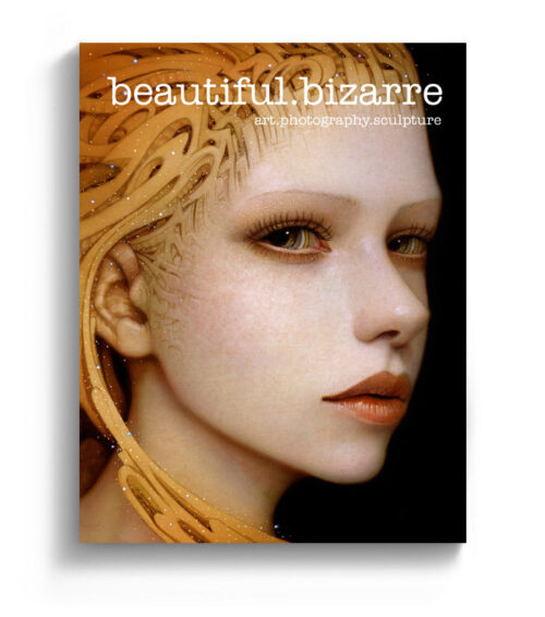 Naoto Hattori pop surrealism painting on the cover of Beautiful Bizarre art magazine