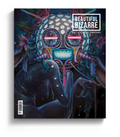 Hannah Yata surreal painting on the cover of the cover of Beautiful Bizarre Magazine