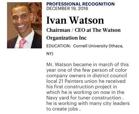 Ivan Watson, CEO, Profile