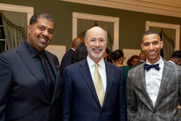 Ivan Watson with Governor of Pennsylvania Tom Wolf discussing diversity and inclusion