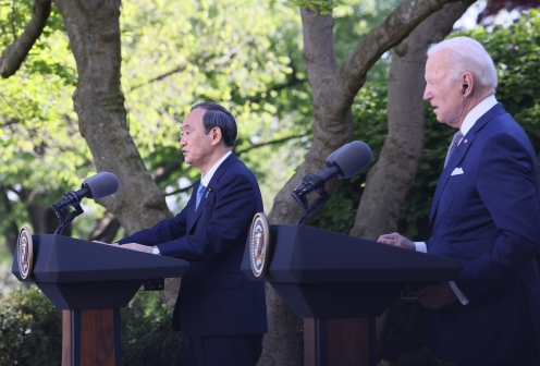 Photograph of the Japan-U.S. joint press conference (5)