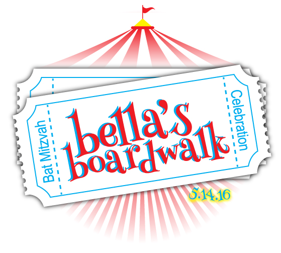Bella's Boardwalk Bat Mitzvah Logo