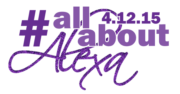 #AllAboutAlexa Bat Mitzvah Logo