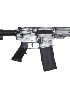 Advanced Combat AR-15 Pistol White Battle Worn Cerakote