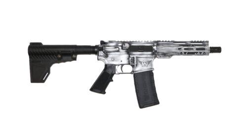 Advanced Combat AR-15 Pistol White Battle Worn Cerakote