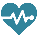 Blue Icon For Heart Disease
