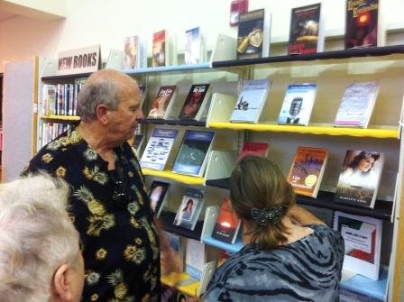book shelf of titles