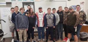 Captain Greg with the Menasha High School Fishing Team