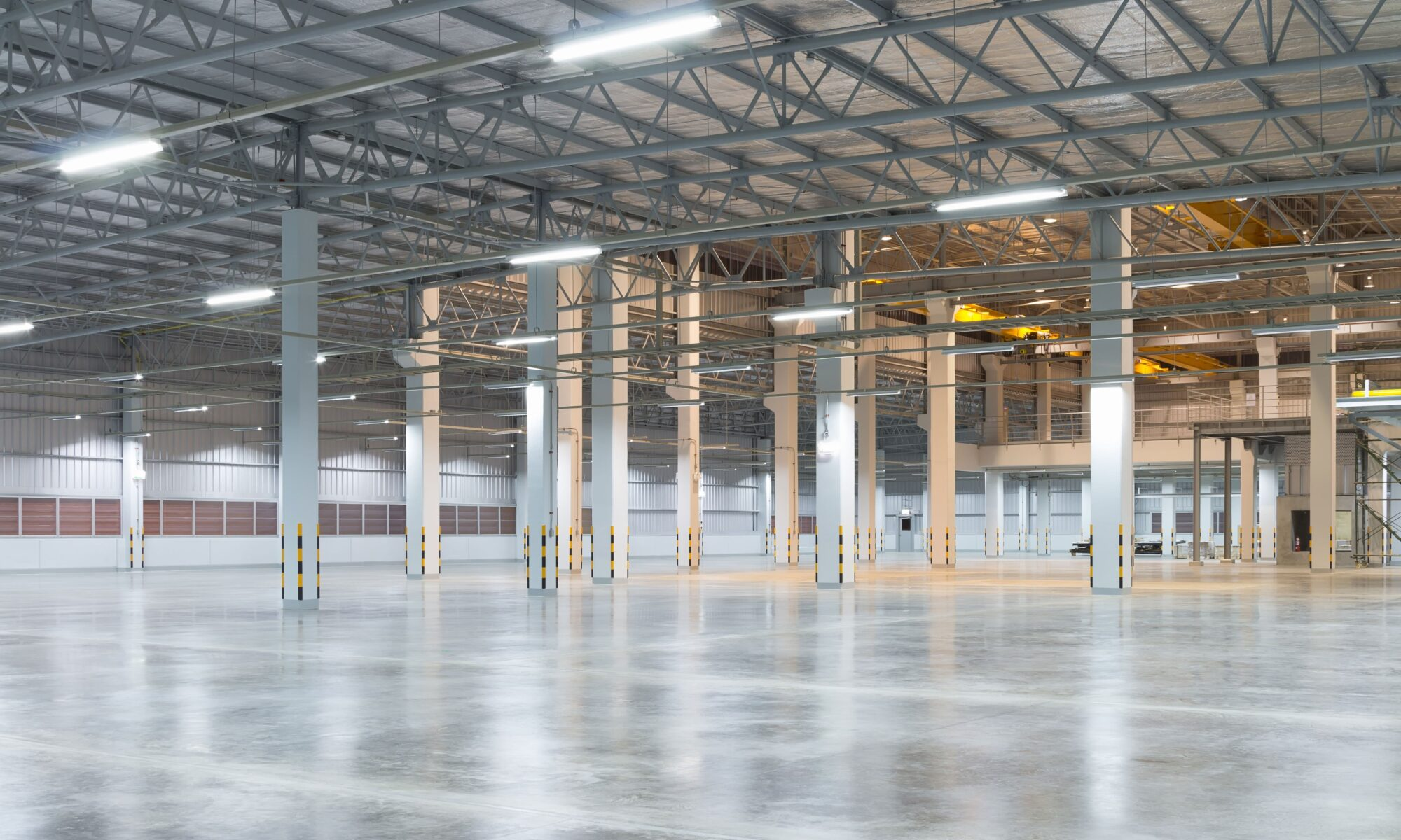 Empty warehouse commercial wireless design