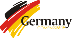 Logo for Compass 28:19 Short term missions trip to  Germany