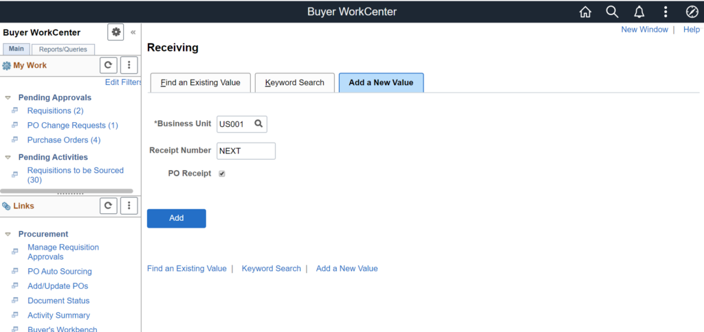 Buyer WorkCenter