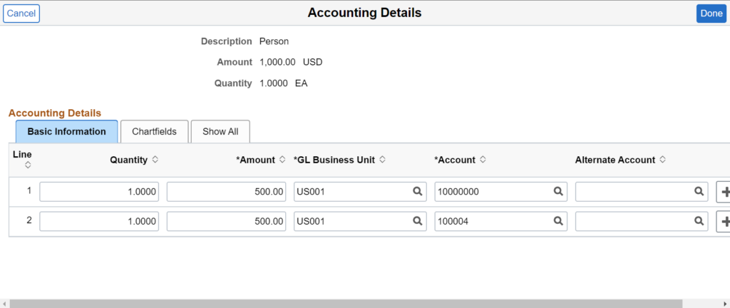 Accounting Details