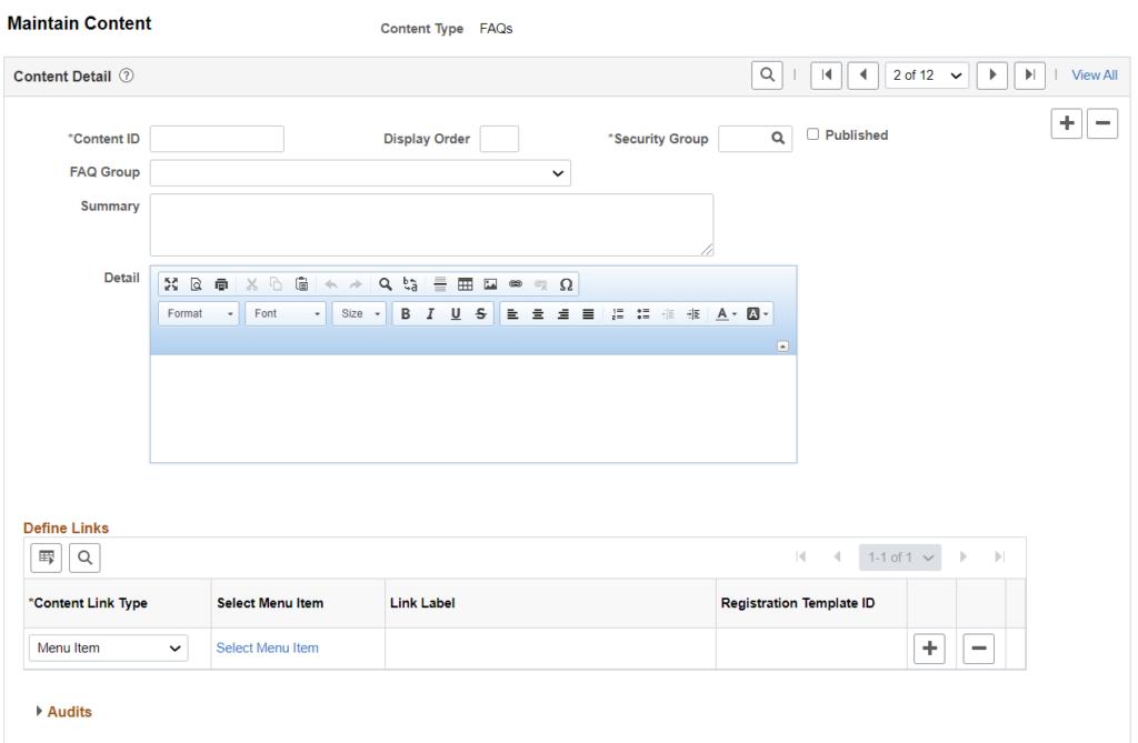 Supplier Portal - Content