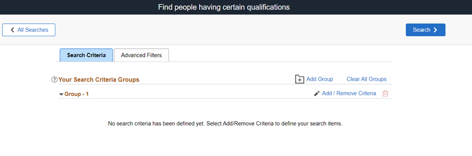 Find people having certain qualifiications